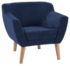 Fotelis Signal Meble Bergen 1, 78 x 54 x 76 cm, mėlyna