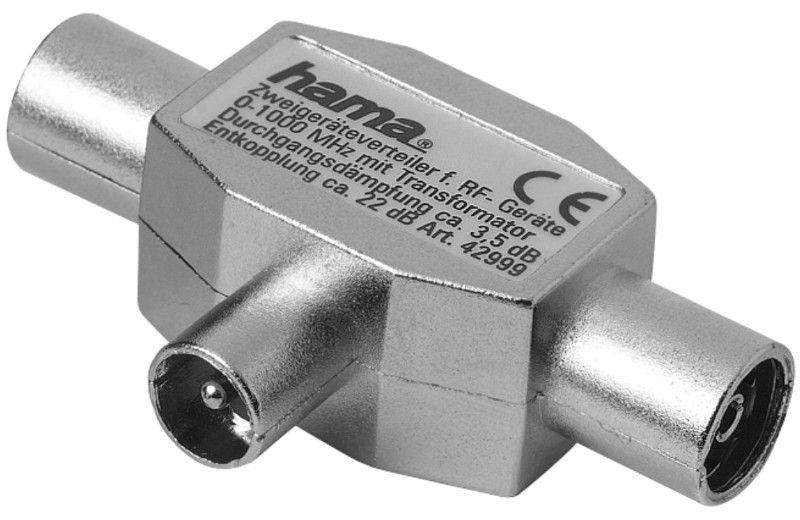 Hama Antenna Splitter Coax Plug To 2 Coax Sockets