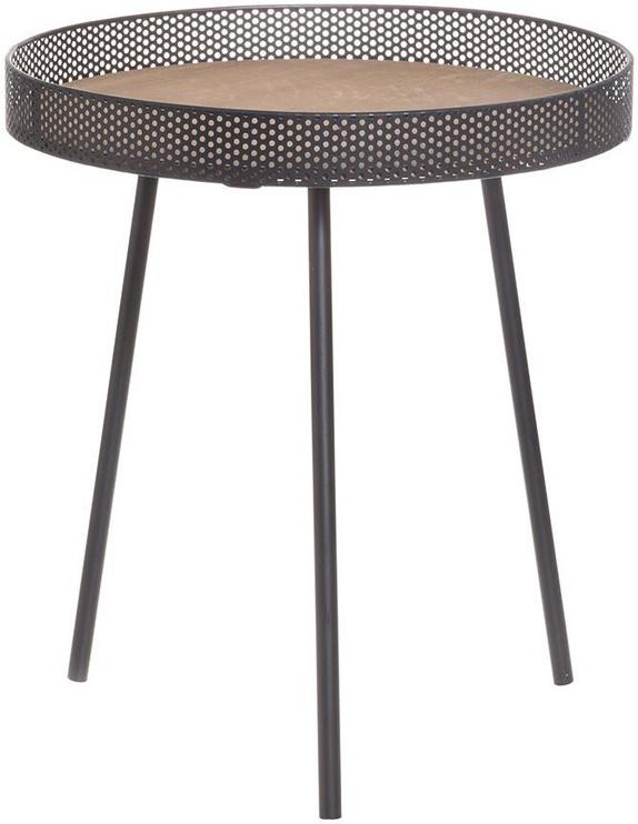 Kafijas galdiņš 4Living Ziggy, brūna, 450x510x450 mm