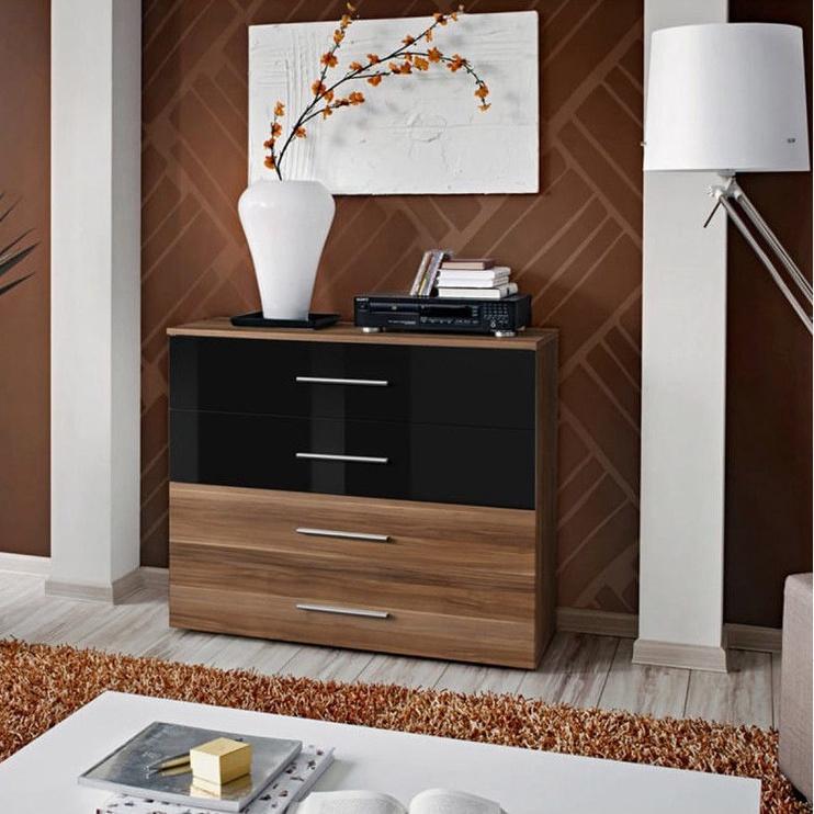 ASM Go Chest Of Drawers Plum/Black Gloss