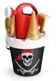 Smilšu kastes rotaļlietu komplekts Pirate, daudzkrāsains