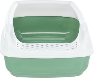 Miskaste Trixie Delio, balta/zaļa, atvērts, 480x200x350 mm