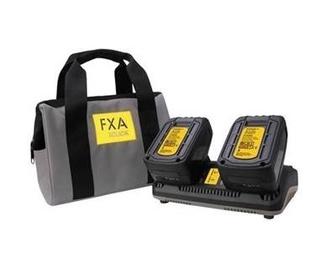 Lādētājs un akumulatori 2X18V FXA XCLICK