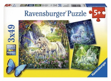 Puzle Ravensburger Beautiful Unicorns 09291, 3x49 gab.