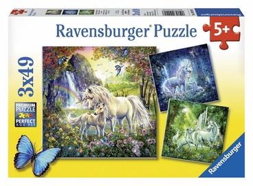 Dėlionė Ravensburger Beautiful Unicorns 09291, 3x49 dalių