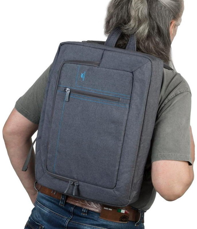 Rivacase Transformer Laptop Backpack 16'' Grey