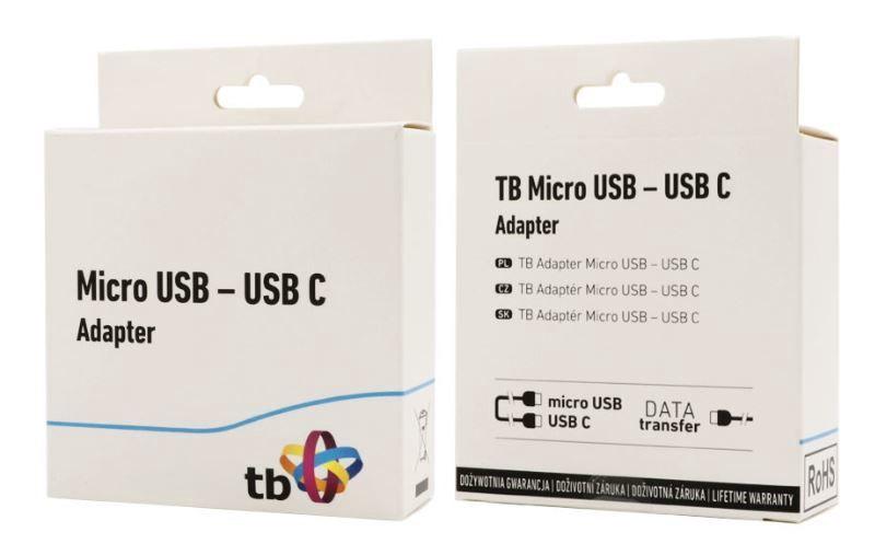 TB Adapter Micro USB / USB C Black
