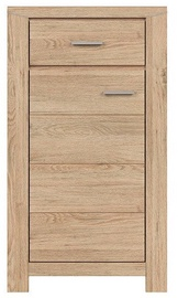 Black Red White Luttich Chest Of Drawers 60x107cm Oak