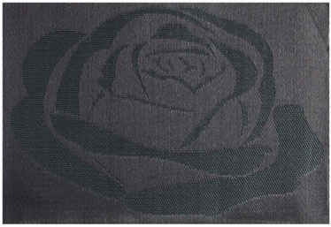 Home4you Textiline Table Mat Black Rose
