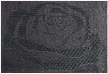 Home4you Textiline Table Mat Black Rose