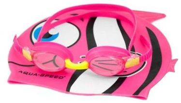 Aqua Speed Swimming Pool Glass Fish + Pink Cap Kit