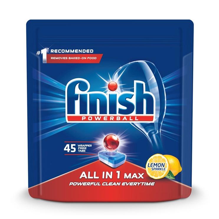 Капсулы для посудомоечной машины Finish All In 1 Max Lemon, 45 шт.
