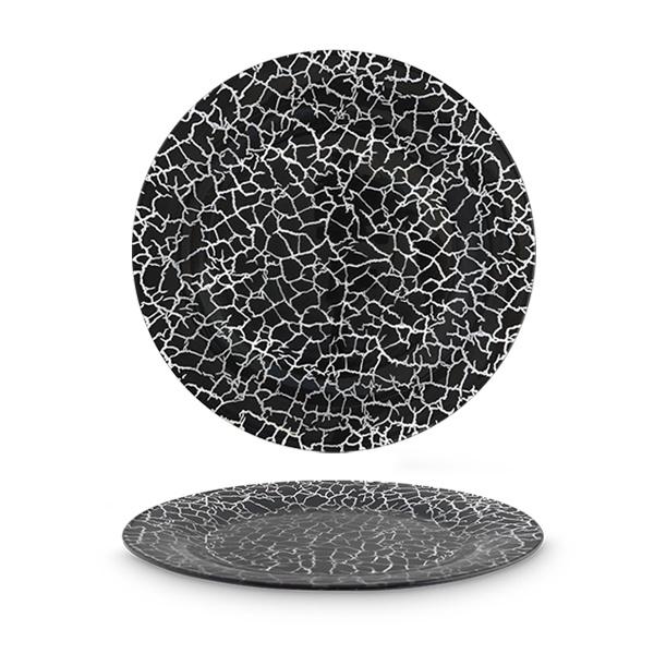 Taldrik CoK 160-0072, läbipaistev/valge/must