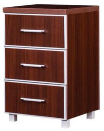 Bodzio Nightstand With Drawers 76x45x48cm Walnut