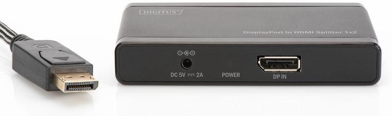 DIGITUS 4K DisplayPort To HDMI Splitter DS-45400