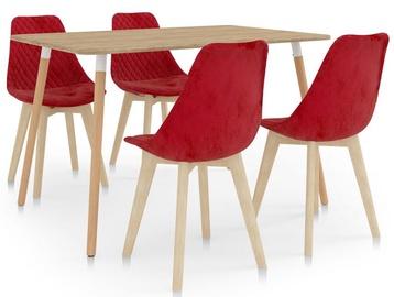 Обеденный комплект VLX Dining Set 287245/289165, красный