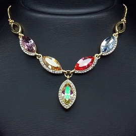 Diamond Sky Pendant Colorful Assortment II With Swarovski Crystals