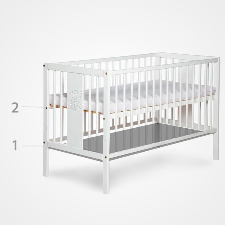 Vaikiška lova Klups Kompakt White, 176x87 cm
