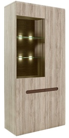 Black Red White Glass Cabinet Azteca Trio San Remo Oak