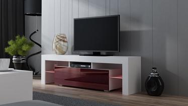 TV staliukas Pro Meble Milano 160 White/Red, 1600x350x450 mm