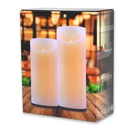 DecoKing Wax LED Candle Set 15/20cm 2pcs