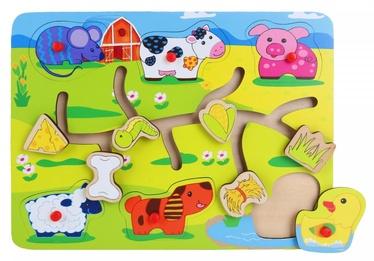 Brimarex Wooden Maze Puzzle Farm 6pcs 1581754