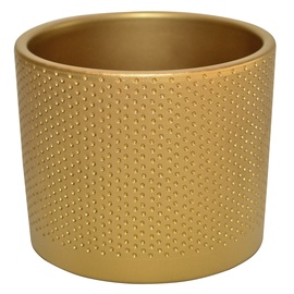 Горшок кер DOMOLETTI, WALEC KROPKI, д13, цвет золотой