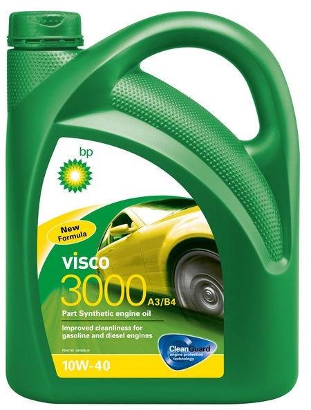 Машинное масло Bp Visco 3000 10W - 40, синтетический, для легкового автомобиля, 5 л