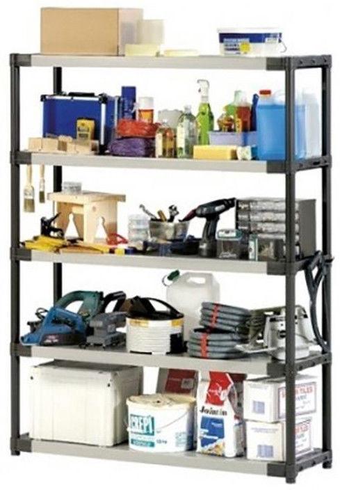 Sandėliavimo lentyna Grosfillex Workline XXL135, 135 x 39 x 175 cm, 5 lentynos