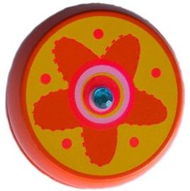 Woody Yo-Yo Orange With Flower 90735