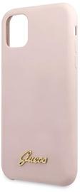 Guess Vintage Gold Logo Back Case For Apple iPhone 11 Pro Max Light Pink