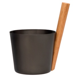 Rento Sauna Bucket Aluminium Black/Brown