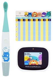 Marcus & Marcus Interactive Sonic Silicone Toothbrush Set Lucas