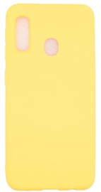Evelatus Soft Touch Back Case With Strap For Samsung Galaxy A20e Yellow