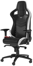 Žaidimų kėdė Noblechairs EPIC Real Leather Black/White/Red