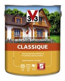 Medienos impregnantas V33 Classique, skandinaviškos pušies spalvos, 2.5 l