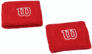 Спортивный напульсник Wilson WR5602900 Wristbands Red 2pcs