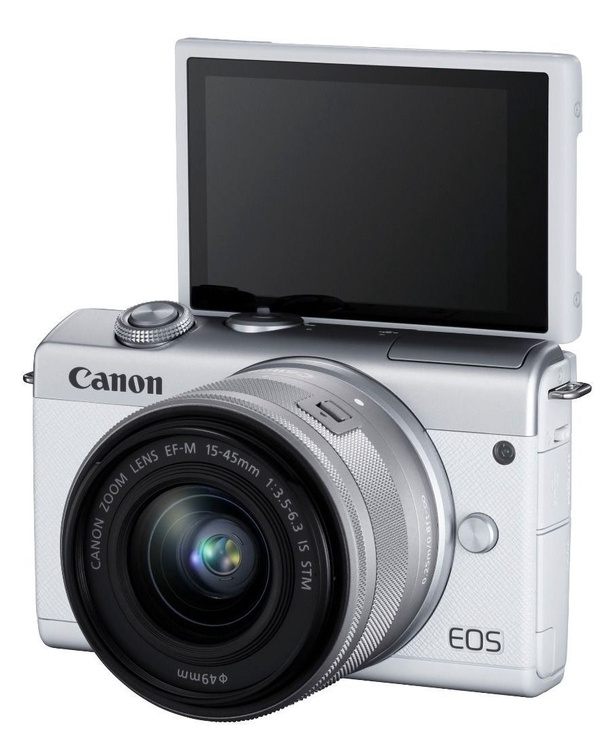Canon EOS M200 + 15-45mm IS STM + EF-M 22mm IS STM White