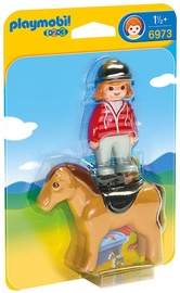 Playmobil 1-2-3 Equestrian With Horse 6973