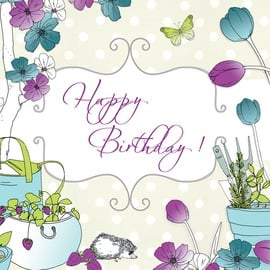 Clear Creations Happy Birthday Garden Card CL1503