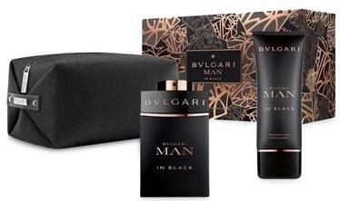 Набор для мужчин Bvlgari Man In Black 100 ml EDP + 10 ml Aftershave Balm + Cosmetic Bag
