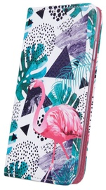 Mocco Smart Trendy Book Case For Huawei P Smart 2019 Flamingo And Plants