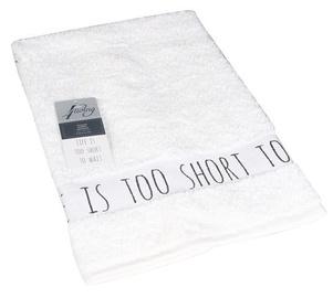 4Living Life's Too Short Towel 50 x 70cm White