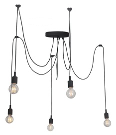 Light Prestige Soleto 5 Hanging Lamp E27 60W Black