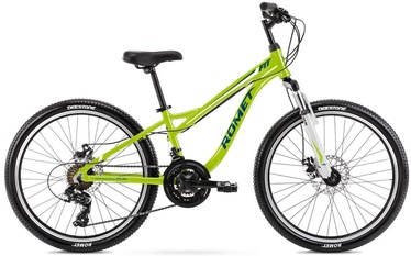 "Bērnu velosipēds Romet Rambler Fit 2124623, zila/zaļa, 24"""
