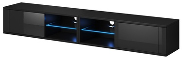 Vivaldi Meble Best Double TV Stand With LED Black/Black Gloss