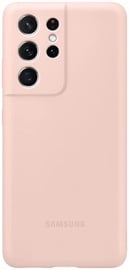 Samsung Silicone Back Case For Samsung Galaxy S21 Ultra Pink