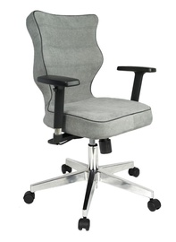 Entelo Nero Poler Chrome Office Chair AT03 Light Grey