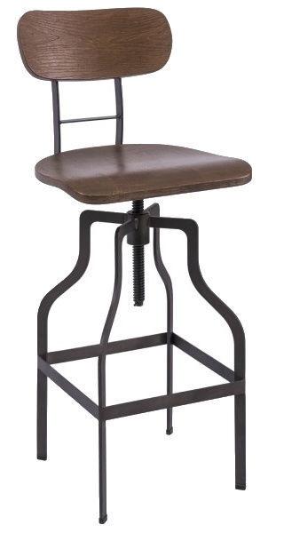Baro kėdė Signal Meble Loft Drop Walnut, 1 vnt.