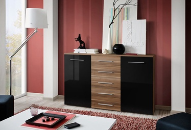 ASM Galino Fox Chest Of Drawers Plum/Black Gloss